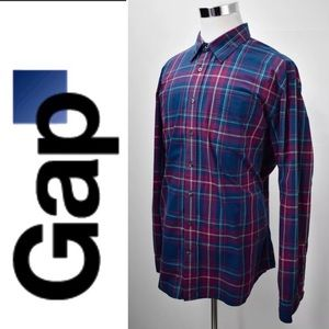 GAP Madras Dress Shirt Size 2XL Classic Fit